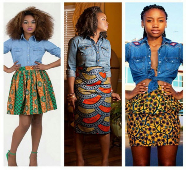 Denim and Ankara. PHOTO:COURTESY