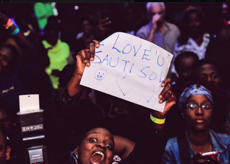 The love that Sol generation have was evident at the concert. PHOTO/FACEBOOK