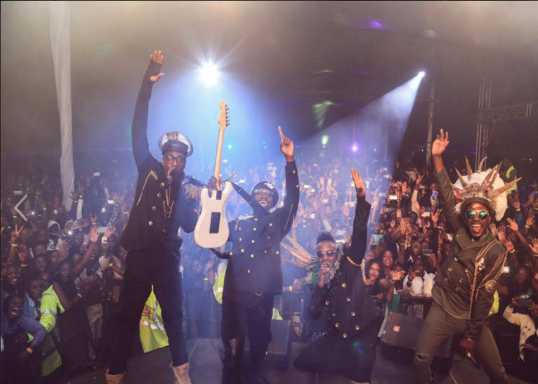 Sauti Sol on stage during the Eldoret concert. PHOTO/FACEBOOK