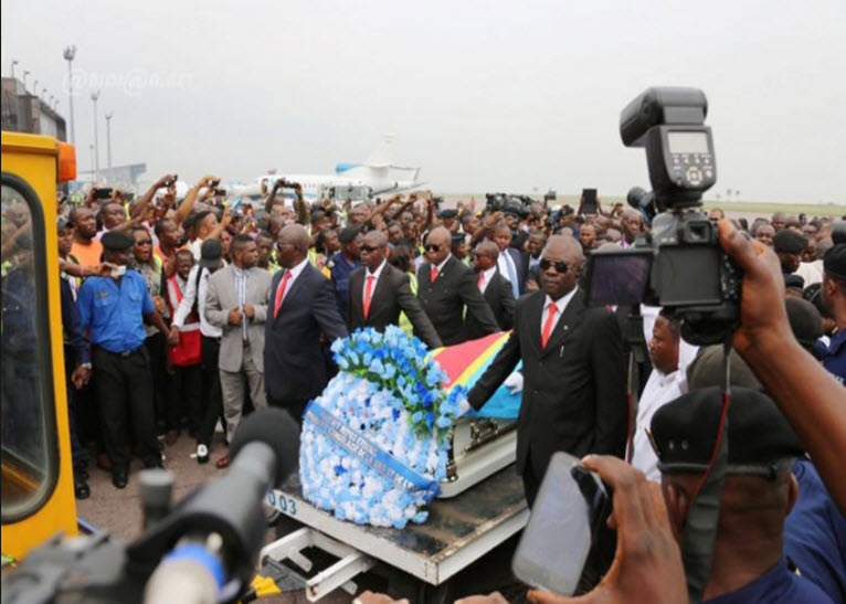 Mourners at the airport. PHOTO/COURTESY