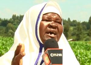 Elizabeth Akata, 65, says Wanyonyi sent her to Chemororoch in Uasin Gishu County to continue his spiritual work PHOTO/EDAILY