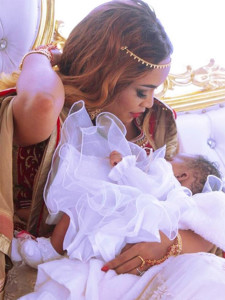 Diamond Platnumz's partner Zari Hassan with their daughter Latiffah Dangote PHOTO/INSTAGRAM