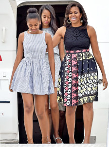 Michelle Obama with her daughters Malia and Sasha PHOTO/INSTAGRAM