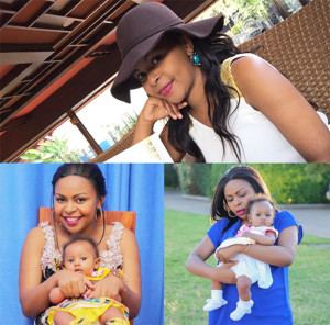 DJ Mo's wife Size 8 with their daughter Ladasha Belle Wambui PHOTO/INSTGARAM