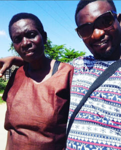 Nyota Ndogo's mother and brother Juma Tutu PHOTO/COURTESY
