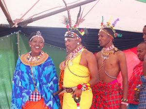 Dancers from Samburu County perform at Vihiga Municipal Grounds PHOTO/BRIAN OKOTH