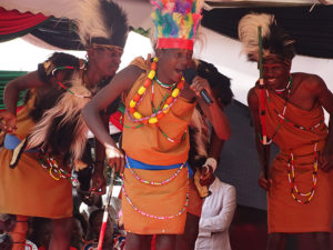 Dancers from Kiambu County entertain the audience at Vihiga Municipal Grounds PHOTO/BRIAN OKOTH