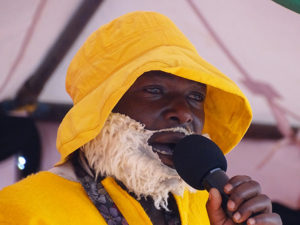 Comedian from Kisii County performs at Vihiga Municipal Grounds PHOTO/BRIAN OKOTH