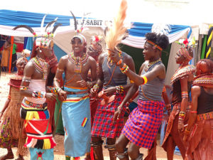 Dancers from Marsabit County perform Vihiga Municipal Grounds PHOTO/BRIAN OKOTH