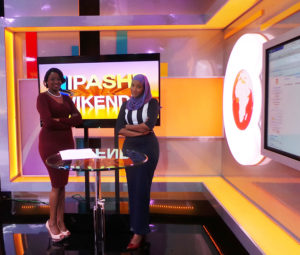 The powerful pair of Lulu Hassan and Kanze Dena have been presenting topical issues alongside news – and more noticeably the Kanga on Sundays. Swaleh will take over Sunday Show PHOTO/EDAILY