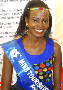 Miss Tourism Kericho County Mercy Bore poses for a photo PHOTO/BRIAN OKOTH