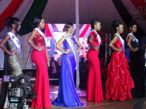 Six semi-finalists of Miss Tourism Kenya 2016. From left to right: Miss Tourism Uasin Gishu, Bomet, Murang'a, Homa Bay, Nyeri and Meru Counties PHOTO/BRIAN OKOTH