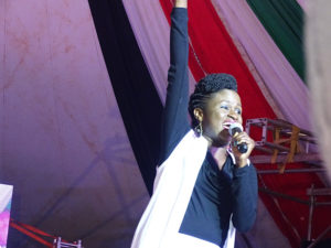 Kenyan gospel bigwig Mercy Masika thrilled the powered up gathering PHOTO/BRIAN OKOTH