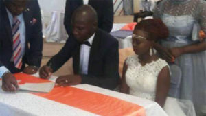 And the newest couple in town, Mr and Mrs Netia, appended signatures on the document that legalizes their union PHOTO/COURTESY