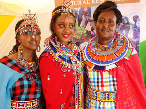 Miss Tourism Kajiado County Sation with relatives PHOTO/BRIAN OKOTH