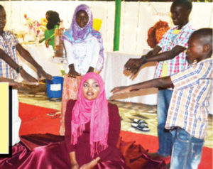 The preteens offered to pray for Wema Sepetu PHOTO/COURTESY