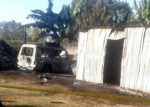 A vehicle belonging to Nyakach MP Aduma Owuor was on Saturday night torched by unknown arsonists at his rural home in Kabete village, Kisumu County PHOTO/COURTESY