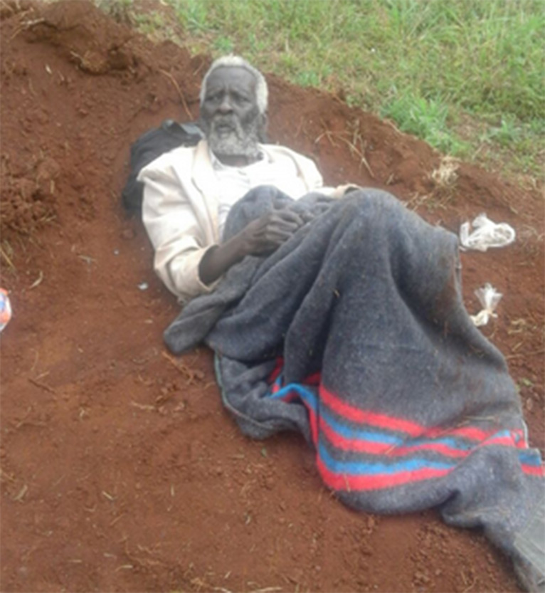 Kibure did not sleep through the night as his nephews woke him up slightly past 1am, wrapped him in a blanket, bundled him in a car and dumped him alive near Mutomo Graveyard PHOTO/ROSE WANJA