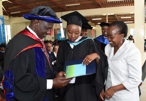 Proud parents! Ruto and Rachael glowing with pride as their daughter graduates from Daystar