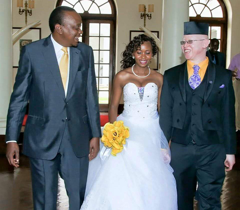 Mukami and Mwaura toured the State House, Nairobi after tying the knot in June, 2015. President Uhuru Kenyatta received them [PHOTO/COURTESY]