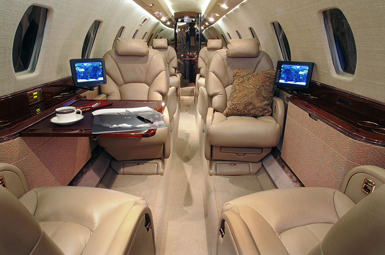The eight Passenger Seats in the Cessna Citation X are arranged in a Double Club Configuration [PHOTO/COURTESY]
