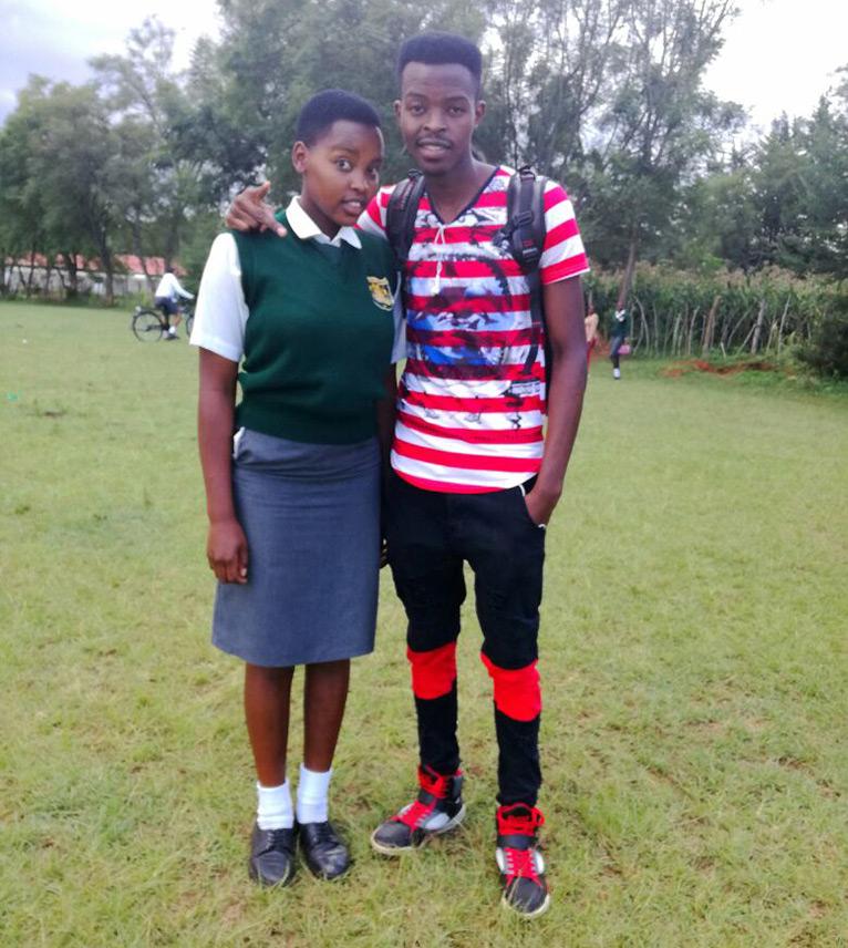 Eunice Chacha with her brother Benjamin Mkapa Chacha [PHOTO/EUNICE CHACHA]