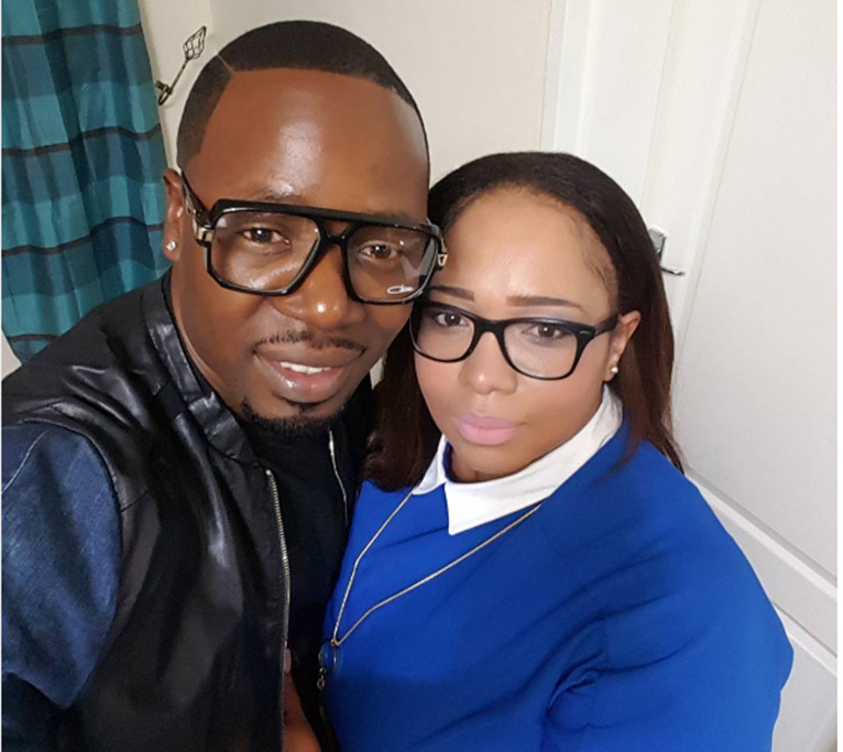 Rapper Stunner with wife Olinda Chapel [PHOTO/COURTESY]