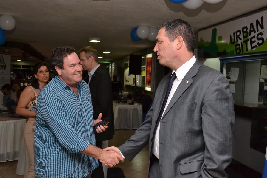 Israeli Ambassador to Kenya H.E Vilan chats with a film lover