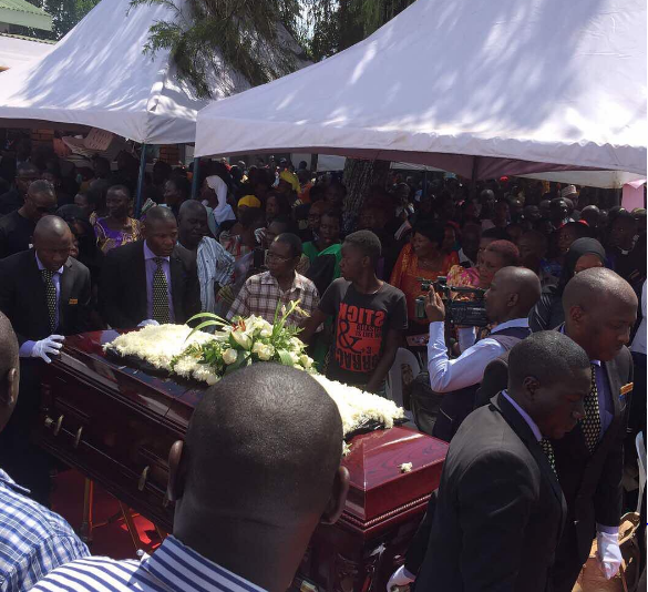 Mourners at the burial