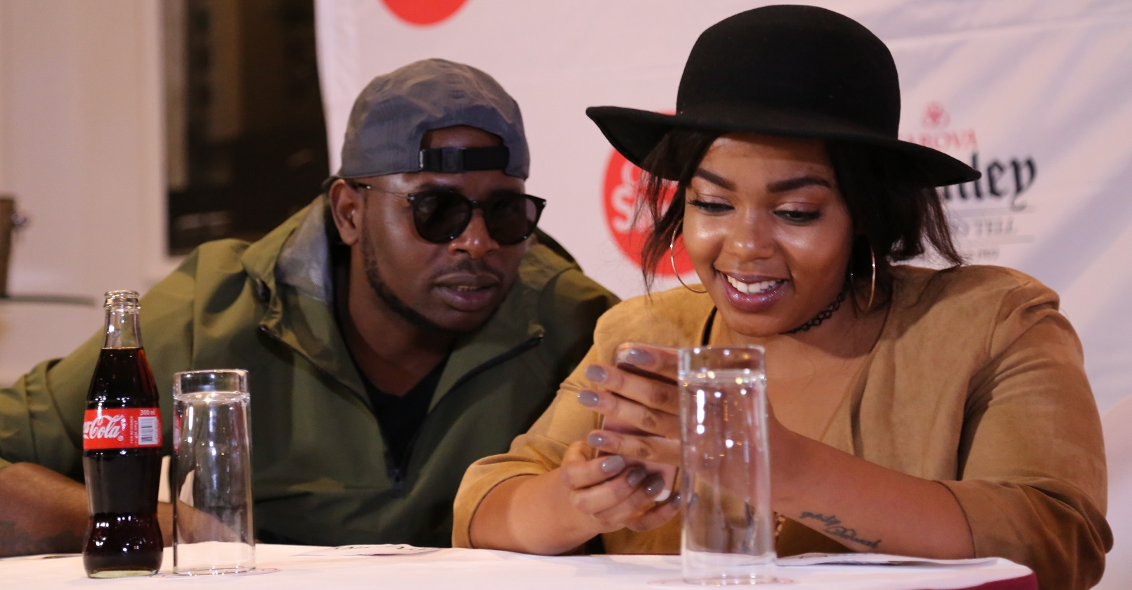 DJ Maphorisa chatting with Shekhinah