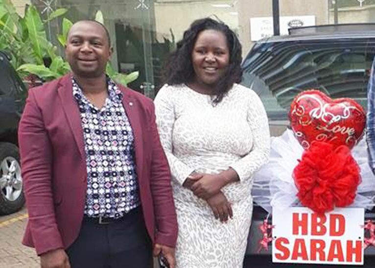 Simon Kabu and his wife Sarah pose for a photo on her birthday on July 13 [PHOTO | COURTESY]