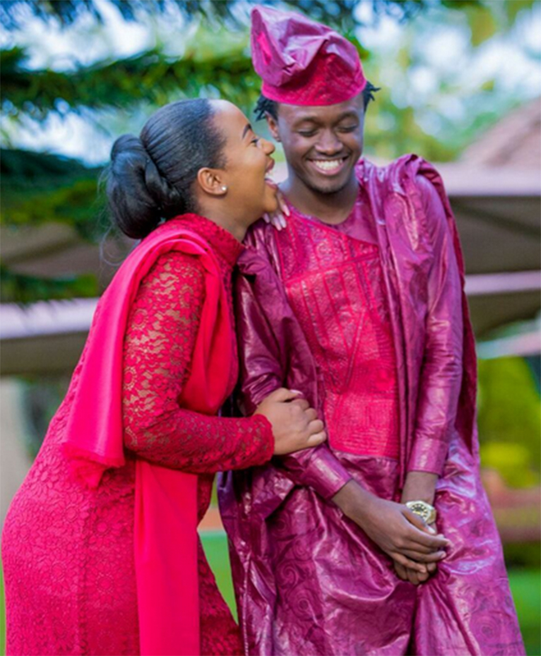 Bahati and Diana Marua looking happy together after tying the knot on Friday, October 20 [PHOTO | COURTESY]