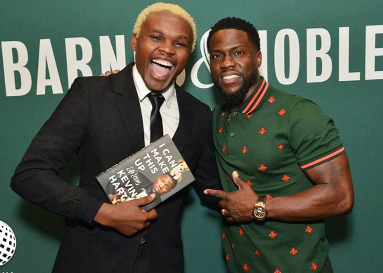 Chipukeezy and Kevin Hart met in June 2017 in Los Angeles, USA [PHOTO | COURTESY]