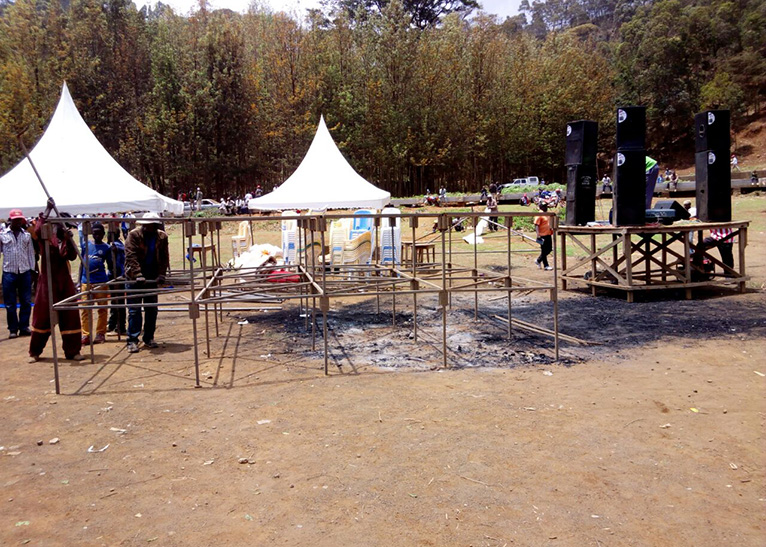 A new metallic stage has, however, been built ahead of the Nasa chief's rally [PHOTO | EDAILY]