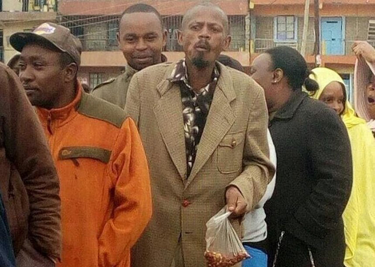 Githeri man lines up during the August 8 General Election [PHOTO | COURTESY]