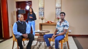 Edi Gathegi and Jeff Koinange
