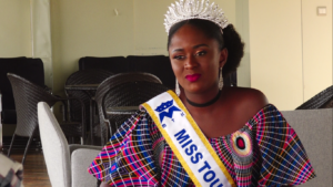 Miss Tourism Kenya Wendy Bella during the interview