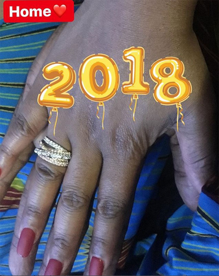 Grace Msalame posted a picture showing her engagement ring worn on the finger while holding hands with her now-fiance [PHOTO/COURTESY]