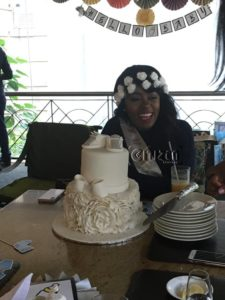 Lilian Muli during her baby shower.