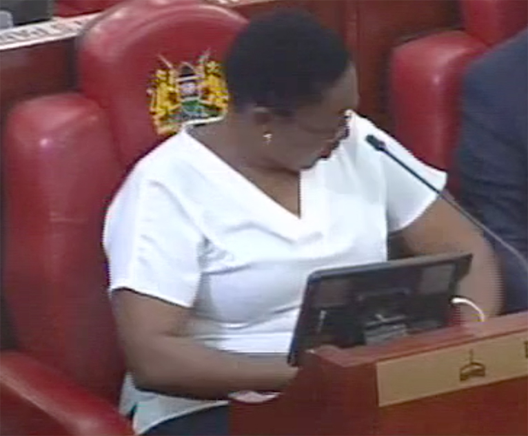 MP Sabina Chege's controversial top. [PHOTO | EDAILY]