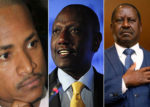 Babu Owino (L), William Ruto (C) and Raila Odinga (R) [PHOTO | COURTESY]