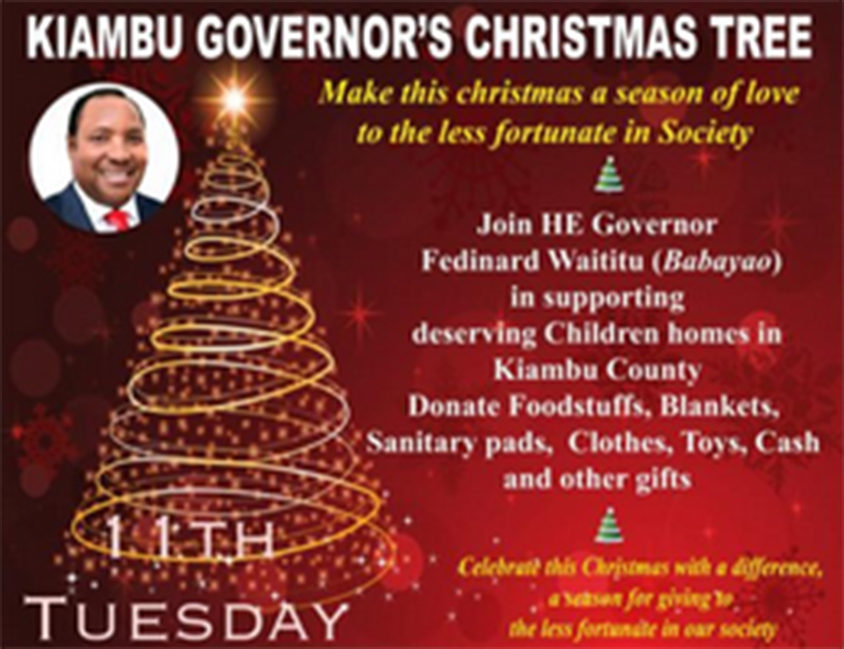 Invitation card to the launch of Christmas tree in Kiambu [PHOTO | EDAILY]