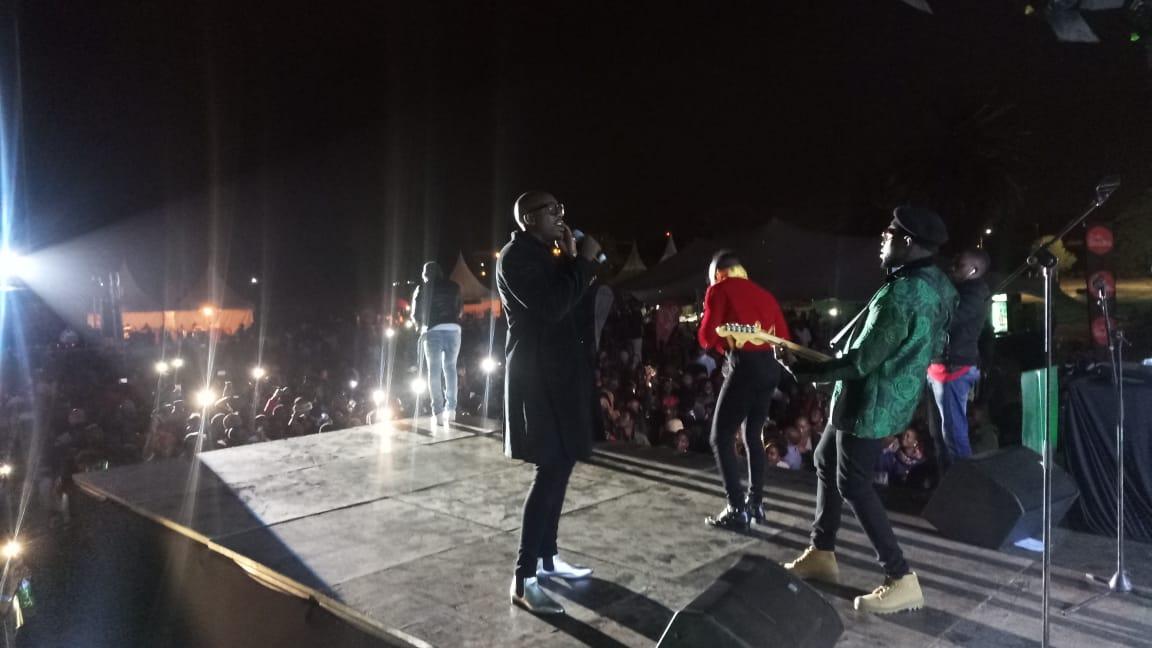 Sauti Sol entertains fans at the Festival of Love concert.