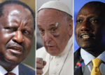 RAILA ODINGA (L), POPE FRANCIS (C) AND WILLIAM RUTO (R) [PHOTO | COURTESY]