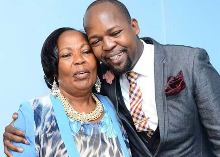 ALEX MWAKIDEU WITH HIS MOTHER. [PHOTO | COURTESY]