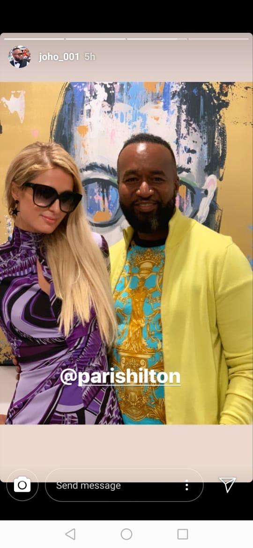 Governor Ali Joho with American socialite Paris Hilton. PHOTO | COURTESY