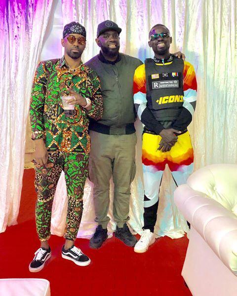 Konshens, G-Money and DJ Calvince backstage. PHOTO | COURTESY